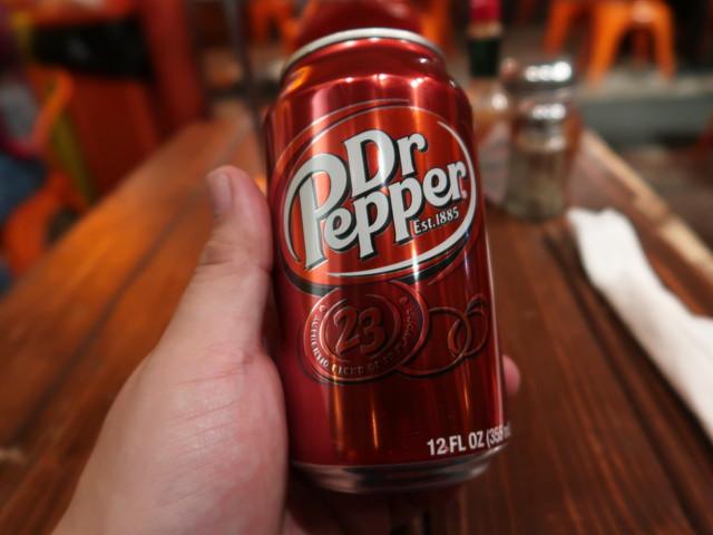 ビールの代わりにDr.Pepper